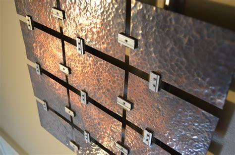 custom  hammered copper wall art  fabitecture custommadecom