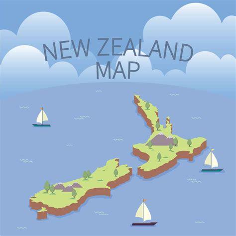 zealand maps illustration   vectors