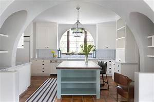 blue kitchen island with dark butcher block countertop and With what kind of paint to use on kitchen cabinets for outdoor terracotta wall art