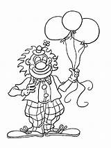 Coloring Pages Circus Clown Printable sketch template