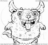 Gremlin Coloring Cartoon Gremlins Gizmo Clipart Pages Outlined Pudgy Vector Cory Thoman Template sketch template