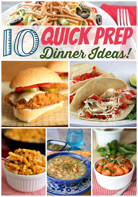 fast supper ideas quick prep dinner recipes the weary chef