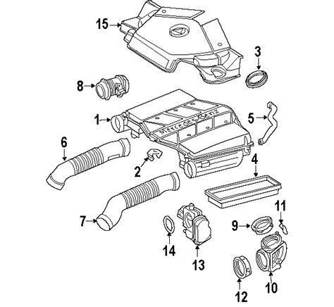 Mb Engine Diagram by Parts 174 Mercedes Engine Air Intake Housing
