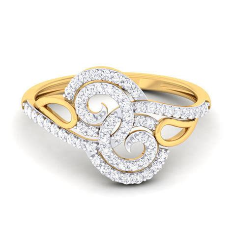 anniversary engagement women s designer diamond ring size free size rs 24038 piece id