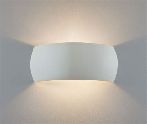 astro milo ceramic plaster wall light up white 60w