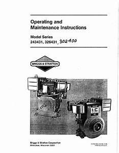Briggs  U0026 Stratton 243431 Series User Manual