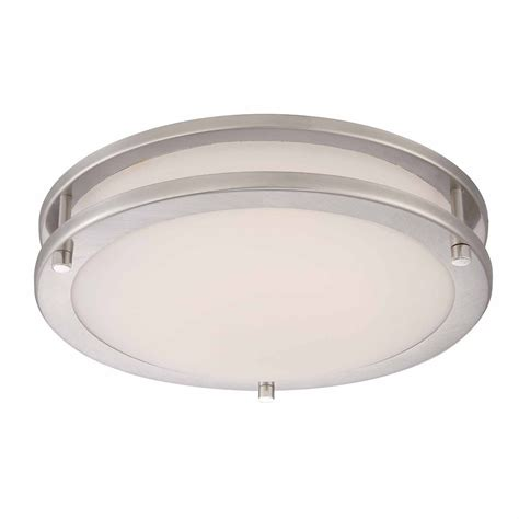 hton bay 12in led flushmount brushed nickel the home