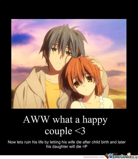 anime clannad facts clannad sad meme search feels anime