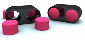 Table Basse Rose : table basse avec poufs int gr s ~ Teatrodelosmanantiales.com Idées de Décoration