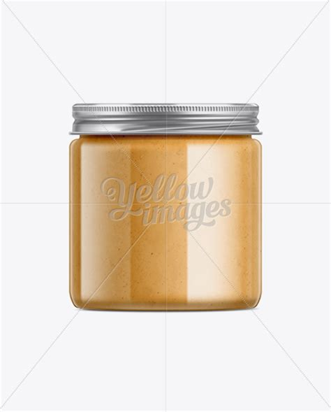 Exclusive special premium mockup that you won't ever find on our blog·. Clear Plastic Jar with Peanut Butter Mockup in Jar Mockups ...