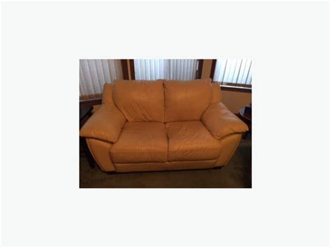 butter yellow 100 leather sofa loveseat from scan