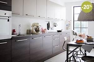 Cuisine En Promo : cuisine taupe fly en promo facades en melamine ~ Teatrodelosmanantiales.com Idées de Décoration