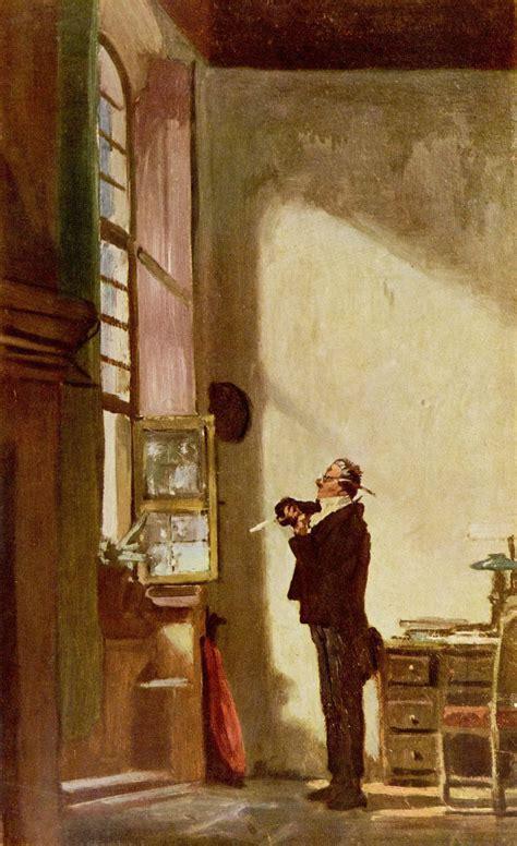 The Writer  Carl Spitzweg  Wikiartorg  Encyclopedia Of Visual Arts