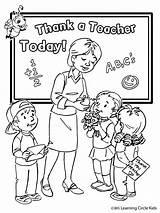 Teacher Drawing Coloring Appreciation Getdrawings sketch template
