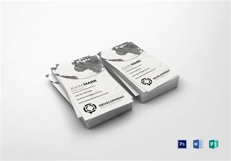 producer business card design template  word psd publisher