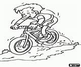 Mountain Bike Coloring Descent Extreme Adventure Oncoloring sketch template