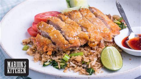 crispy chicken  special fried rice marion  kitchen