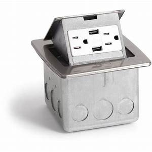 Kitchen Countertop Pop Up 20a Charging Usb Outlet