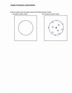 Chapter 1 Worksheet Atomic Models Draw An Oxygen Atom