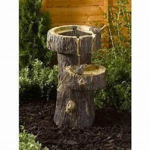 Comment Creuser Un Tronc D Arbre : fontaine solaire tronc d arbre achat vente decoration de jardin pas cher ~ Melissatoandfro.com Idées de Décoration