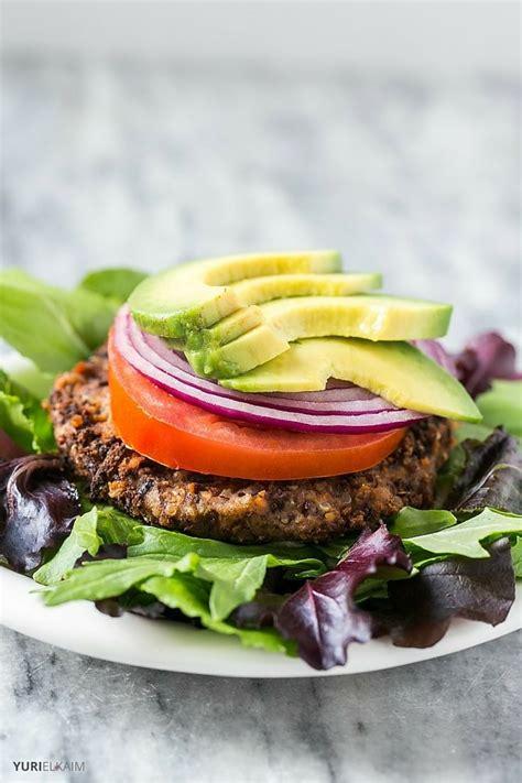 black bean burger recipe vegan 5 ingredient black bean quinoa burger recipe yuri elkaim