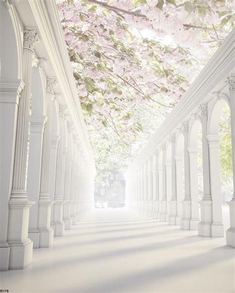 send rolled  pink flower tree backdrop wedding