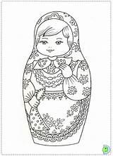 Coloring Dolls Nesting Dinokids Template Russian Matryoshka Sheet Matrioshka Close Coloringdolls sketch template