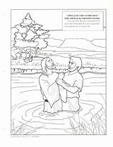 Baptism Coloring Jesus Primary Printables Lesson Living Lds Sketch Printable John Christ Baptist Clean Baptized Church Sheets Colouring Friend Happy sketch template