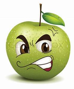 Envy apple smiley | Vector | Colourbox