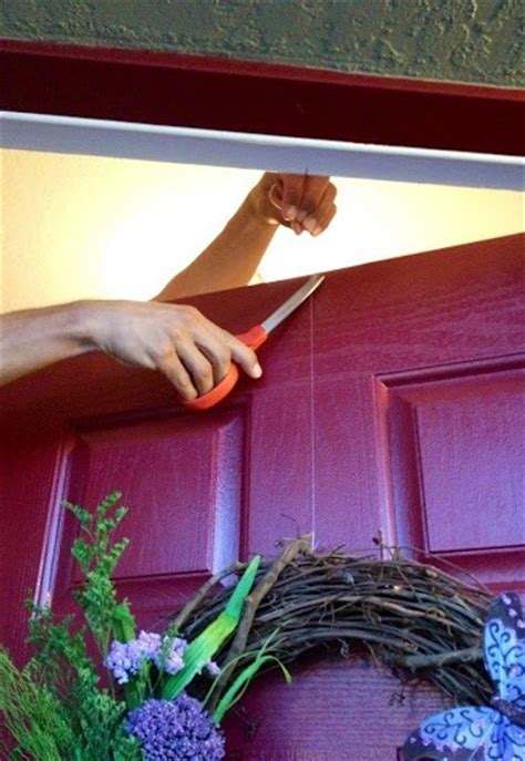 how to make a christmas door hanging on youtube how to hang a wreath without damaging your door 171 ideas