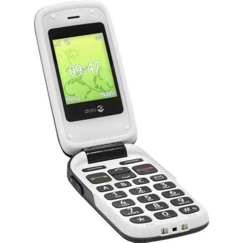 telephone portable avec le torche t 233 l 233 phone portable 224 clapet pour s 233 niors doro 6050 blanc graphite vente t 233 l 233 phone portable 224