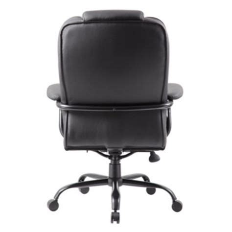 350 lb roxton big bonded leather chair