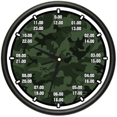military time wall clock army navy marine air force time