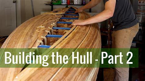building  hull part  ep  cedar strip canoe build