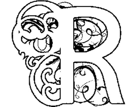Illuminated Letters Coloring Pages - Costumepartyrun