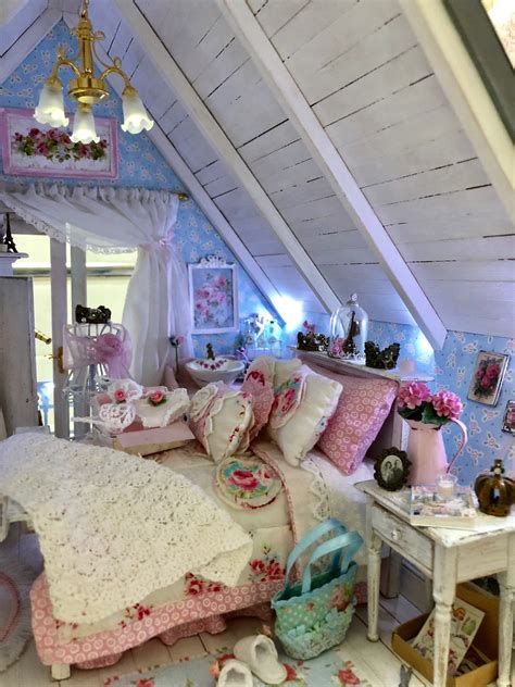 ideen schlafzimmer in stube dollhouse miniature shabby chic house bedroom