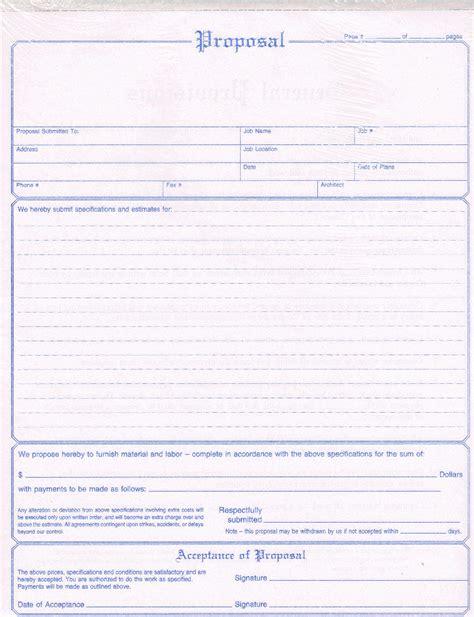 adams nc contractors proposal form