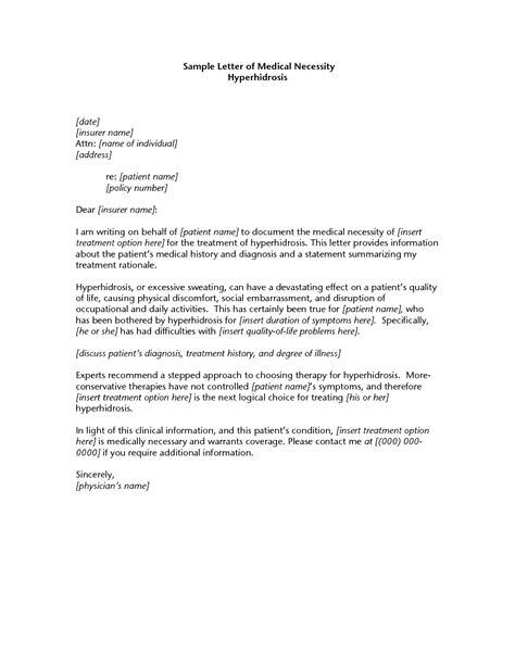 doctors letter  medical necessity