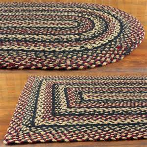 Primitive Rugs With - primitive braided area rugs country oval rectangle 20x30