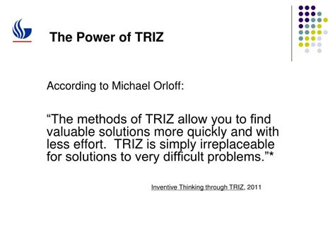 Innovation Using TRIZ: The Next Frontier for Lean