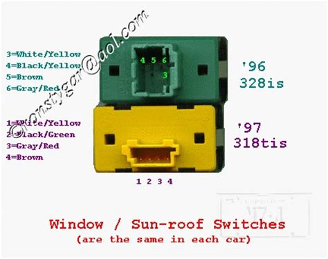 e36 second sunroof switch