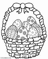 Easter Basket Coloring Pages Eggs Computer sketch template