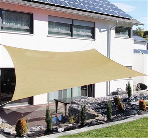 outsunny 20 x16 outdoor patio sun shade sail sand