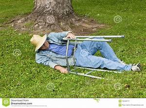 Man With A Walker Falling Down In The Park Royalty Free ...