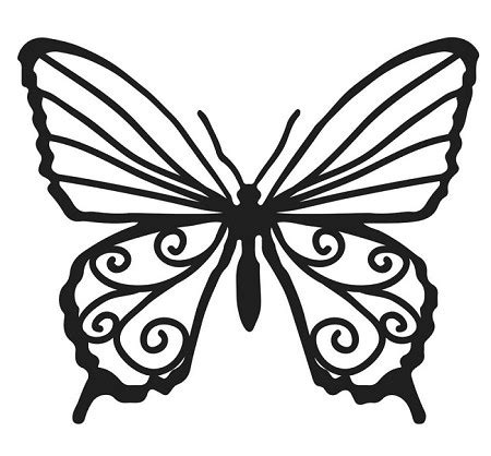 crafters workshop  balzer bits template butterfly