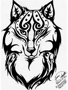 Tribal Wolf Drawings Tribal Wolf Headjocossie On ...