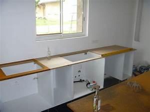 fixer un plan de travail sans meuble dootdadoocom With fixer un plan de travail sans meuble