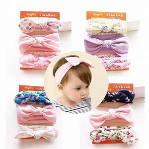 3 pieces/lot New Baby Headband Cotton Bow Kids Girls ...