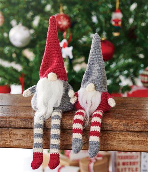 crochet christmas gnomes free pattern amigurumi