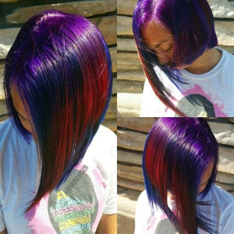 Blue Red And Purple Hair 3 Free Hair Color Pictures